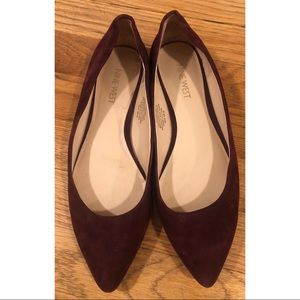 Nine West Maroon Flats